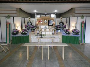 飯能市斎場 祭壇例