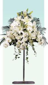 ポール3 : 使用花材/ファレノ・オリエンタル百合など